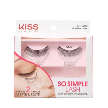Kiss New York So Simple Lash 01 - Cílios Postiços