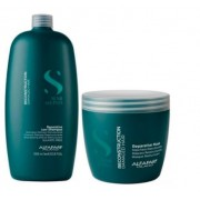 Alfaparf  Semi Di Lino Reconstruction Reparative Shampoo 1L+Máscara 500ml