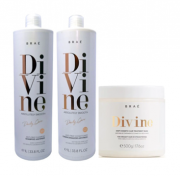 Kit Braé Divine Shampoo e Condicionador 1L + Máscara 500g
