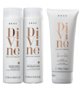 Kit Braé Divine Shampoo e Condicionador 250ml Leave-in 200ml