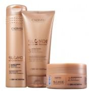 Cadiveu Blonde Reconstructor Shampoo 250ml+Mascara de Reconstrução+Acidificante 200ml