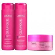 Kit Cadiveu Professional Glamour Glossy Rubi - Shampoo, Condicionador e Máscara