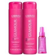 Kit Cadiveu Professional Glamour Glossy Rubi - Shampoo, Condicionador e Reparador