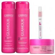 Kit Cadiveu Professional Glamour Glossy Rubi - Shampoo, Condicionador, Máscara e Termo