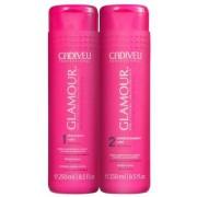 Kit Cadiveu Professional Glamour Glossy Rubi - Shampoo e Condicionador