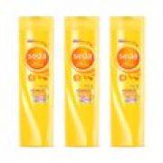Kit com 3 Shampoo Seda Óleo Hidratação 325ml - Incolor