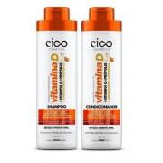 Kit Eico Shampoo + Condicionador 800ml Vitamina D