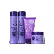 Kit Haskell Ametista - Shampoo e Condicionador, Máscara + Protetor Solar