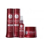 Kit Haskell Bendito Seja - Shampoo, Condicionador, Máscara e Fluído Proteico