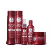 Kit Haskell Bendito Seja - Shampoo, Condicionador, Máscara, Leaving e Fluído Proteico