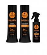 Kit Haskell Encorpa Cabelo - Shampoo, Condicionador + Leaving