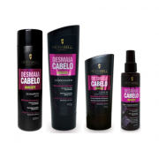 Kit Hidrabell Liso Abacate - Shampoo e Condicionador + Leaving + Spray