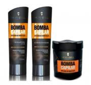 Kit Hidravell Bomba Capilar - Shampoo e Condicionador + Máscara