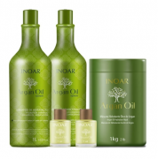 Kit Inoar Argan Oil System Salon Trio E 2 Óleos Argan Oil