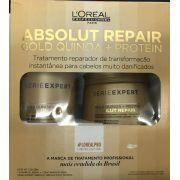 Kit Loreal Absolut Repair Gold Quinoa Shampoo 300ml + Máscara 250g