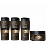 Kit Lacan Caviar e Pérolas (Shampoo+Cond+Leave-in+Máscara)