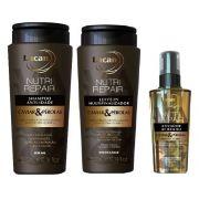 Kit Lacan Caviar e Pérolas (Shampoo+Leave-in+Ativador de Brilho)