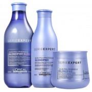 Loréal Blondifier Shampoo Gloss 300ml+Condicionador 200ml+Máscara 250ml