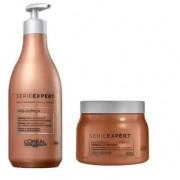 Kit Loréal Shampoo + Máscara Absolut Repair Pós-química 500ml