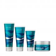 Kit Lowell Extrato de Mirtilo - Shampoo e Condicionador + Máscara + Leaving