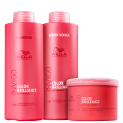 Kit Wella Professionals Invigo Color Brilliance Trio Shampoo Condicionador e Máscara (3 Produtos Grandes)