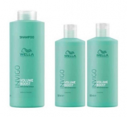 Kit Wella Professionals Invigo Volume Boost Shampoo 1000ml + 2 Condicionador 500ml