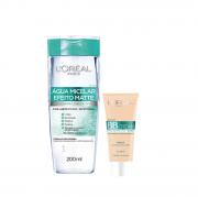 L'Oréal Paris 5 em 1 Efeito Matte Agua Micelar 200ml+BB Cream Clara FPS 50 30g