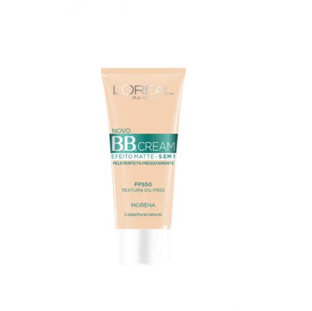 L'Oréal Paris 5 em 1 Efeito Matte FPS 50 Morena - BB Cream 30g