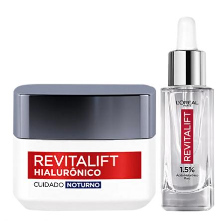 L'Oréal Paris Revitalift Hialurônico Anti-Idade Noite 49g+Serúm 30ml