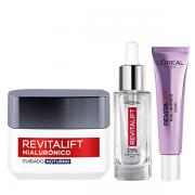 L'Oréal Paris Revitalift Hialurônico Anti-Idade Noite 49g+Serúm 30ml+Area dos Olhos 15g