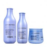 L'Oréal Professionnel Serie Expert Blondifier Cool Shampoo 300ml+Condicionador 200ml+Mascara (Branca) 250g