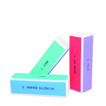 La Beauty Bloco Polidor 4 Faces Colorido Para Acabamento