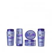 Lacan Liso Perfeito Shampoo+Condicionador+Leave-in 300ml+Mascara 300g