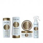 Lacan Sol, Piscina e Mar Shampoo+Condicionador 300ml+Mascara 300g+Spray Protetor 120ml