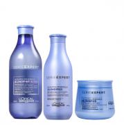 Loréal Blondifier Gloss Shampoo 300ml+Condicionador 200ml+Máscara (Branca) 250ml