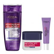 L'Oréal Paris Revitalift Hialurônico Água Micelar 200ml+Noite 49g+Area dos Olhos 15ml