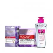 L'Oréal Paris Tratamento Hialurônico Creme Anti-Idade 50ml+Mascara Facial +água Micelar 100ml