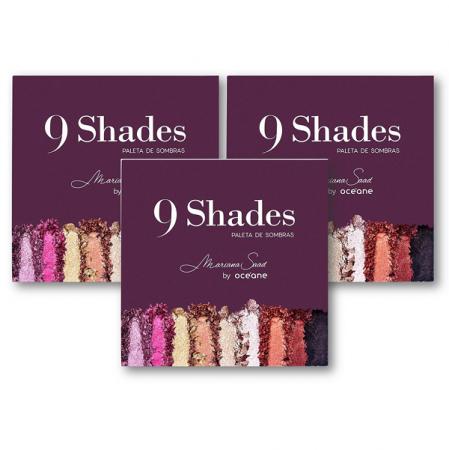 Mariana Saad By Océane 9 Shades - Paleta de Sombras 3 Unidades
