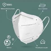 Máscara Descartável Branca KN95 Inova - 100 Unidades
