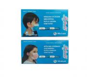 Mascara Cirurgica Dupla Camada com Filtro - Infantil Azul e Rosa 2 un. C/50 cd.