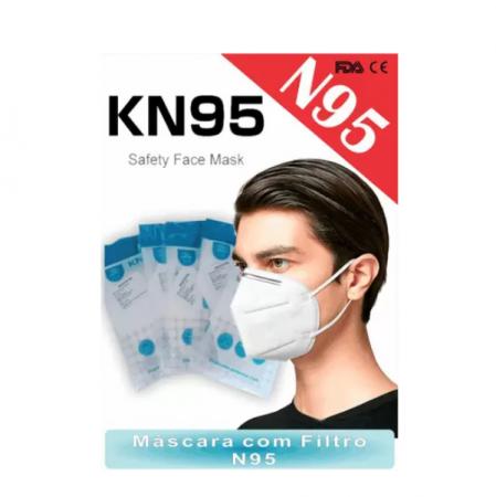 Mascara N95 Cirurgica Respiratória Branca KN95 - 50 Unidades