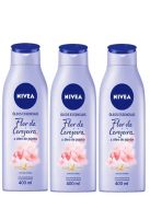 Nivea Body Locao Hidratante Flor Cerejeira 400ml com 3 unidades