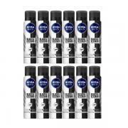 Nivea Desodorante Antitranspirante Aerosol Invisible for Black & White 150ml - 12 Unidades