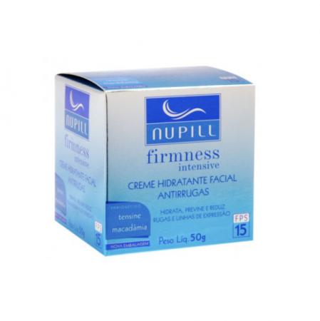 Nupill Creme Facial Hidratante Antirrugas Tensine e Macadâmia FPS 15  50g