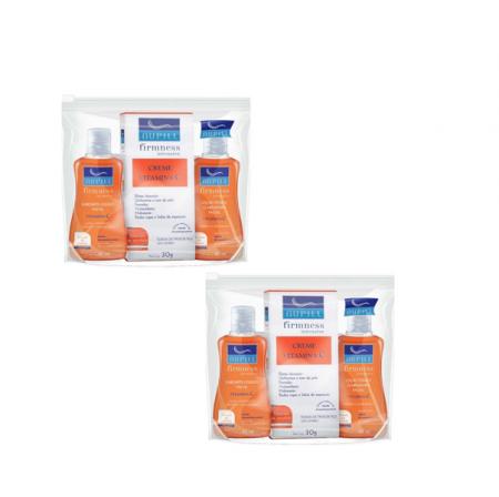 Nupill Facial Firmness Intensive Vitamina C - Sabonete Líquido + Creme Facial + Loção Tônica C/2
