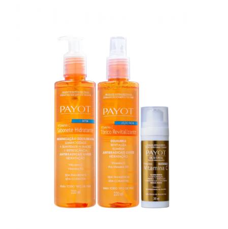 Payot Complexo Vitamina C Sérum Anti-Idade 30ml+Tônico Facial+Sabonete Hidratante 220ml