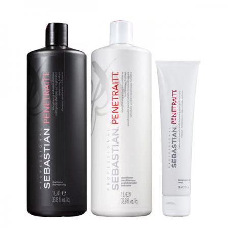 Penetraitt Profissional Sebastian Shampoo+Condicionador 1L+Mascara 150ml