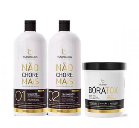 Progressiva Borabella Não Chore Mais 2x1L+Boratox Mascara Redutora Disciplinante 1Kg