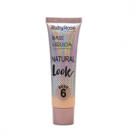Ruby Rose Base Líquida Natural Look Bege - 06