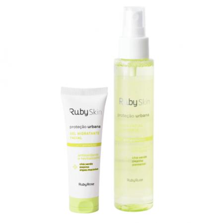 Ruby Rose RubySkin Proteção Urbana - Gel Hidratante 50g+Bruma Fixadora 120ml